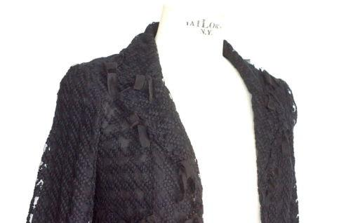 Chanel 05C Jacket Coveted Black Tweed and Mesh Ribbon Trim 34 / 4 - mightychic