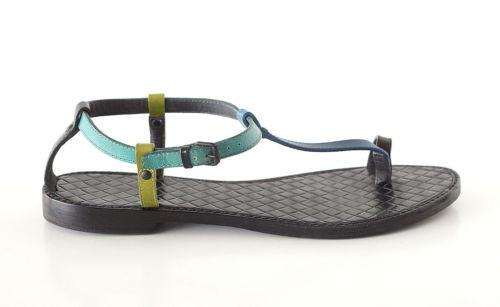Bottega Veneta Shoe Multi Color Flat T Strap Thong Sandal 39 / 9 - mightychic
