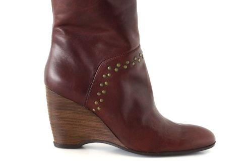 Hogan Boot Wedge Grommet Detail Knee High 9 - mightychic