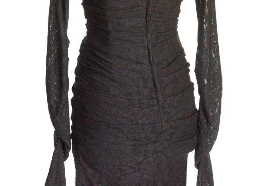 Dolce&Gabbana Dress Rich Lace Superb Fit Exaggerated Sleeve  44 fits 8 - mightychic