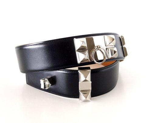 Hermes Belt CDC Collier de Chien Black Palladium - mightychic