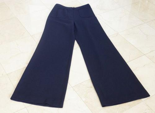 Chanel 99P Pant Navy Vintage Full Leg High Waist 36 / 4 Do Peek