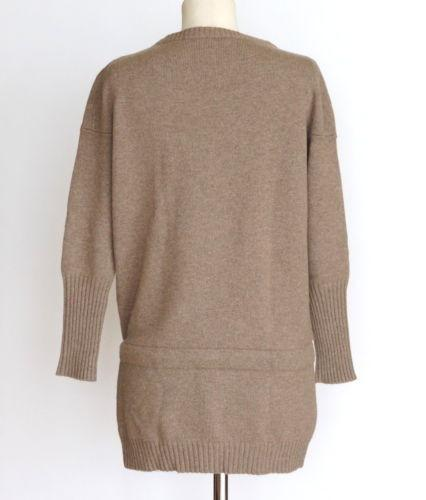Brunello Cucinelli Sweater Cashmere Pullover Leather Tie  XS - mightychic