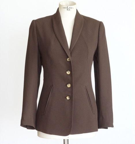 Hermes Jacket Superb Shaping Rich Brown Vintage Fits 6