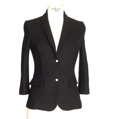 The Row Jacket shaped 3/4 length sleeve mesh fabric 3 - mightychic