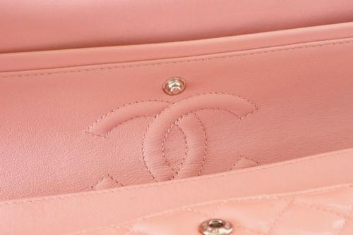 Chanel Bag Medium Classic Flap 2013 Cruise Pink Patent Leather  new - mightychic