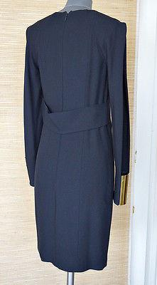 Gucci Dress Wide Gold Cuff with Open Slit Sleeve Shoulder to Cuff 40 / 6 - mightychic