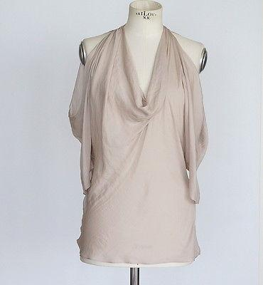 Givenchy Top Feather Light Nude Open Shoulder 36 / 6
