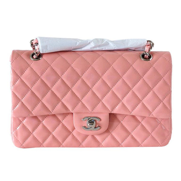 Chanel Bag Medium Classic Flap 2013 Cruise Pink Patent Leather  new