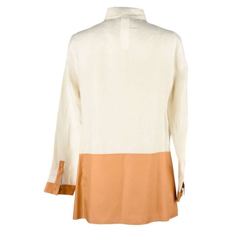 Akris Top Shirt Tunic Bone and Butterscotch 8 - mightychic