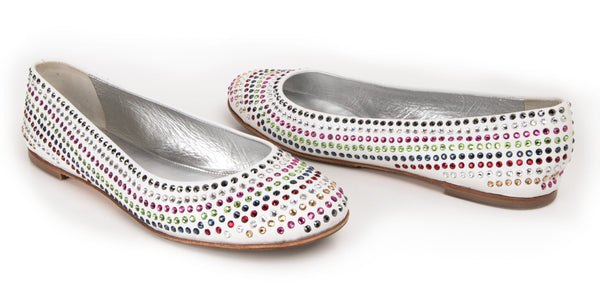 Giuseppe Zanotti Shoe Ballet Flat w/ Colourful Diamantes 39 / 9