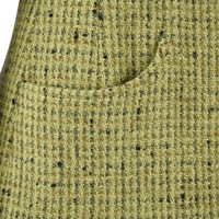 Chanel 97A Jacket Fresh Spring Green Tweed Divine Buttons 34 / 4