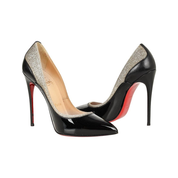official photos d22b0 48860 Christian Louboutin Shoe Pigalle Black w/Glitter 110mm 35 / 5