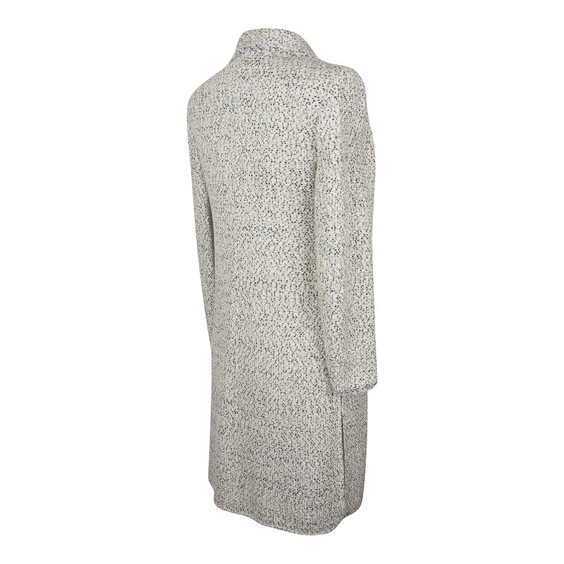 Valentino Skirt Suit Fine Black White Tweed Long Line Jacket  8
