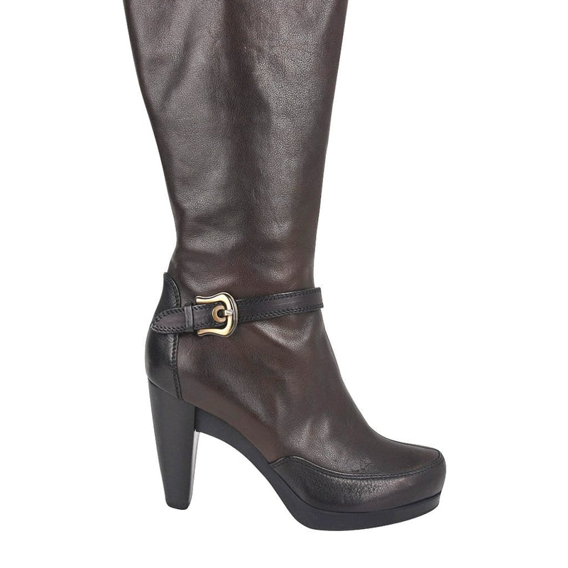 Fendi Boots Platform Knee High Dark Brown 39.5 / 9.5
