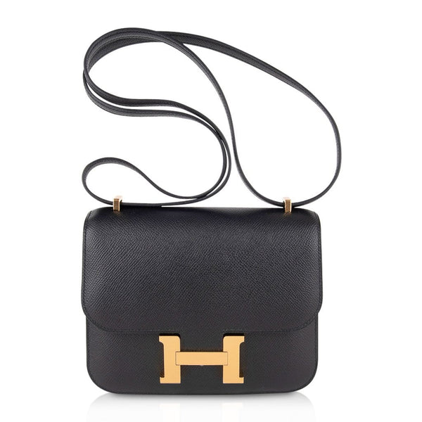 Hermes Constance Bag 18 Black Epsom Gold Hardware New w/ Box
