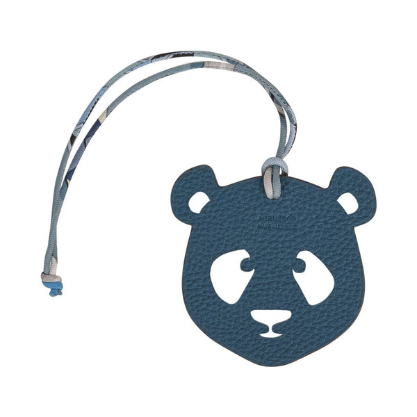 Hermes Bag Charm Bi-Color Panda White and Blue new