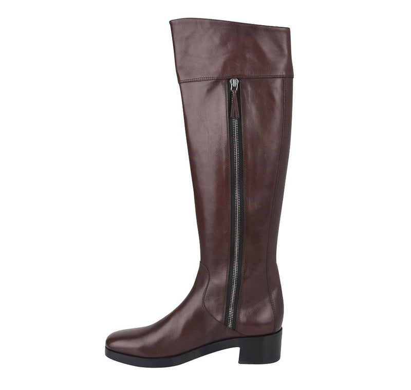 Balenciaga Boot Sleek Knee High Rich Cordovan Leather 36.5 / 6.5 New