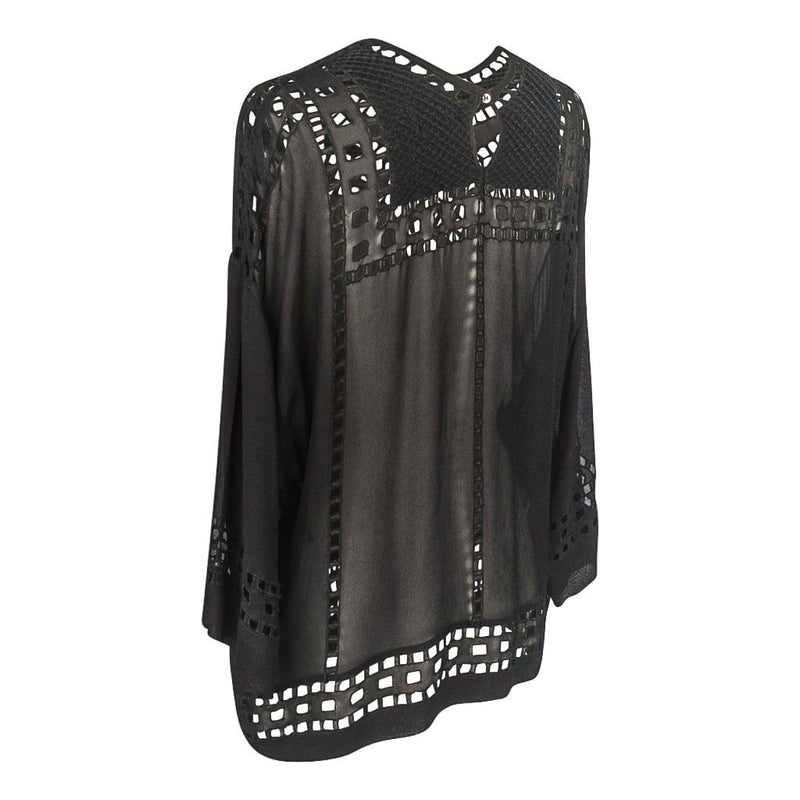 Isabel Marant Etoile Top Black Tunic Style Broderie Anglaise Detailed 38 / 6