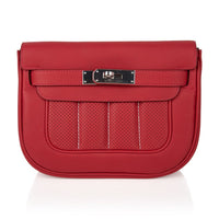 Hermes Berline 21 Bag shoulder/ Crossbody Vermillion Swift Palladium New w/ Box