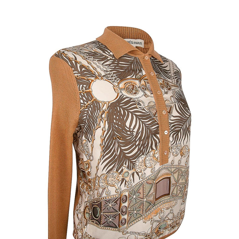 Hermes Top Terres Precieuses Silk / Cashmere M - Also Has Matching Jacket