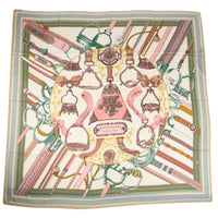 Hermes Scarf Shawl Duo d'Etriers Cashmere and Silk 140cm Equestrian Print - mightychic
