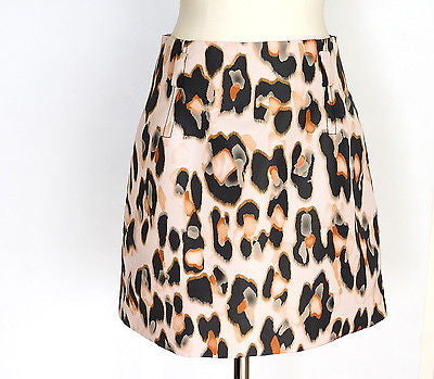 Valentino Red Skirt Leopard Print Pretty Barely There Pink Nude 8
