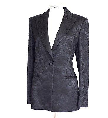 Giorgio Armani Jacket Lace Tuxedo Style Timeless 48 / 8 to 10 - mightychic