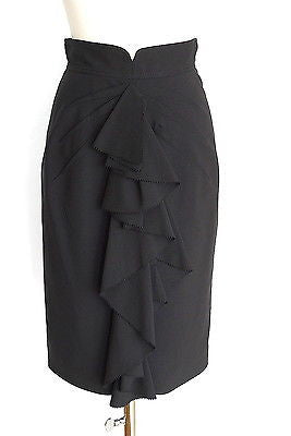 Zac Posen Skirt Beautiful Ruffle Detail Pencil  4
