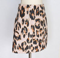 Valentino Red Skirt Leopard Print Pretty Barely There Pink Nude 8 - mightychic