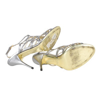 Valentino Silver Cutout Flower Heels / 8.5 Pumps - mightychic