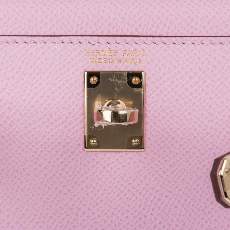 Hermes Kelly 20 Sellier Mini Kelly Mauve Sylvestre Epsom Permabrass Hardware