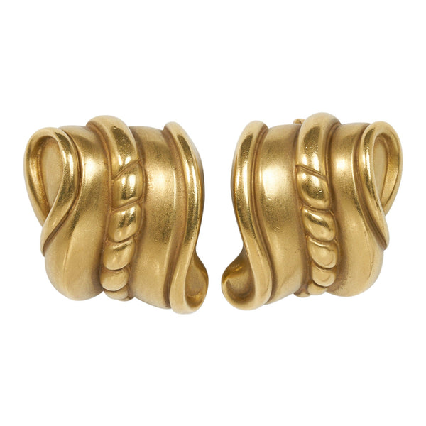 Barry Kieselstein-Cord 18K GoldEarrings Omega Collection