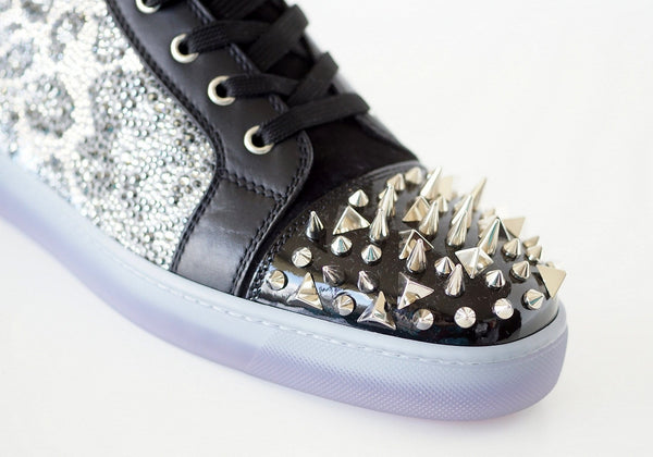 e66e1b9283a ... Christian Louboutin Men s Sneaker No Limit Flat Patent Neo 3D Calf  Spiked 43.5 New - mightychic ...