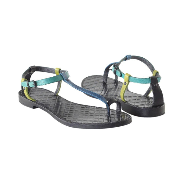 Bottega Veneta Shoe Multi Color Flat T Strap Thong Sandal 39 / 9