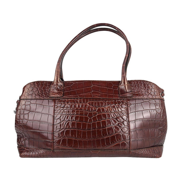 Brunello Cucinelli Bag Luxurious Exclusive Rich Brown Crocodile Tote