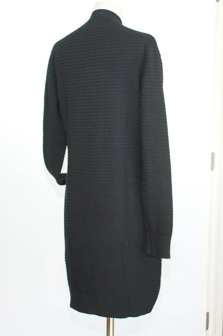 Chanel 08A Sweater Cardigan Long Black Cashmere 42 / 8 - mightychic