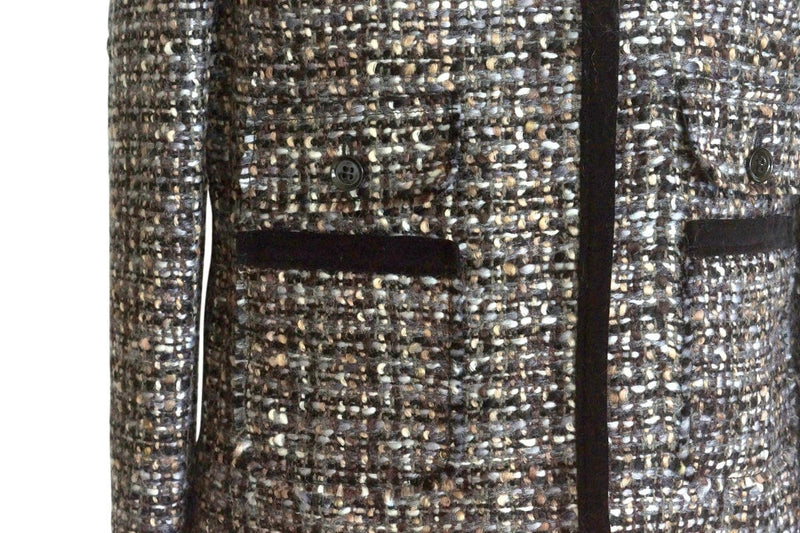 Dolce&Gabbana Jacket Luxurious Fantasy Tweed Velvet Details 44 / 10 - mightychic