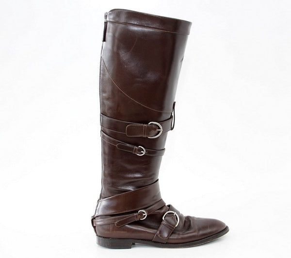 Jean Paul Gaultier Boot Riding Influence Knee High Brown  39 / 9
