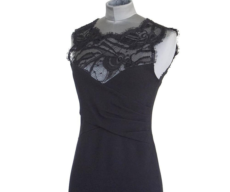 Emilio Pucci Dress Beautiful Lace Neckline Bold Rear Zipper 4 - mightychic