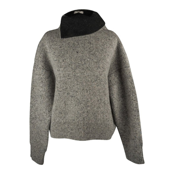 Celine Sweater Heathered Gray Turtleneck Over Sized XS - mightychic