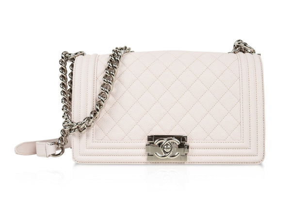 Chanel Bag Pale Pink / Nude Quilted Caviar Medium