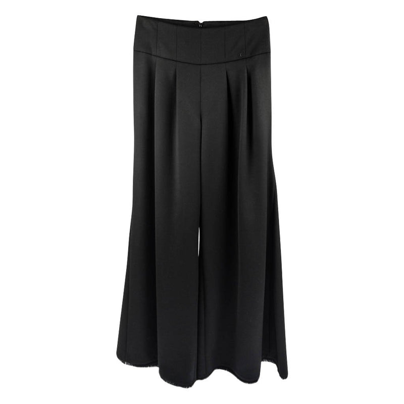 Chanel 06A Palazzo Pant Fringed Hem Dramatic 40 / 8 NWT - mightychic