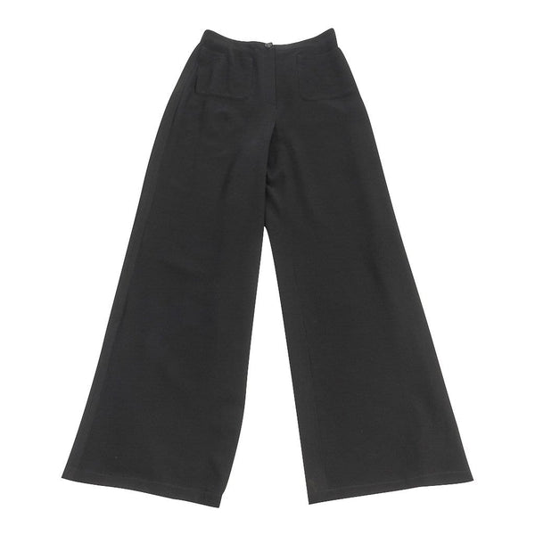 Chanel 99P Pant Black Vintage High Waist Full Leg 36 / 4