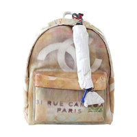 Chanel Bag Graffiti Art School Runway Limited Edition Beige Backpack - Rare - mightychic
