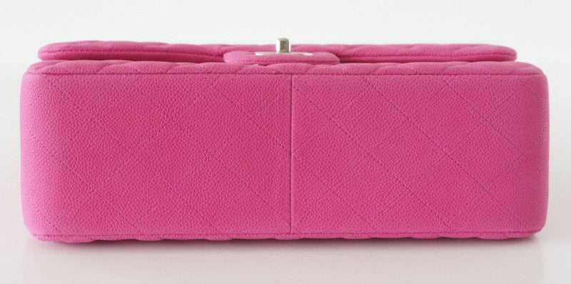 Chanel Bag Jumbo Double Flap Quilted Hot Pink Fuchsia Sueded Caviar  new - mightychic