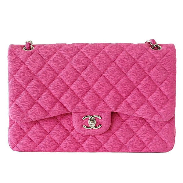 d2f8046949b ... Chanel Bag Jumbo Double Flap Quilted Hot Pink Fuchsia Sueded Caviar new  - mightychic ...