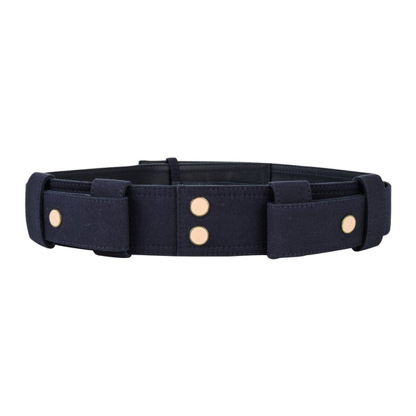 Chloe Belt Marine Blue Twill on Leather S nwt - mightychic