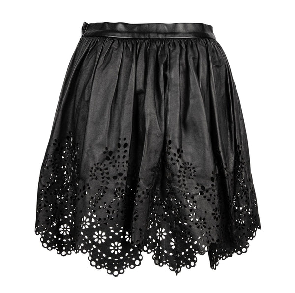 Chloe Skirt Leather Opening Ceremony Laser Cut S New - mightychic