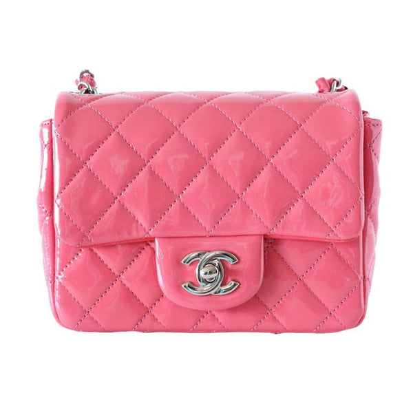 Chanel Bag Pink Mini Square Patent Leather nwt / Box